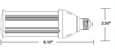 LED Globals Supply 80 Watt Enclosed Fixture
